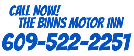 Call us @ Binns Motel Wildwood New Jersey