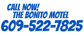 Call us @ Bonito Motel Wildwood New Jersey
